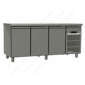 Επαγγελματικό Ψυγείο Πάγκος Συντήρηση 175χ60 εκ με 3 Πόρτες GINOX