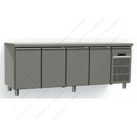 Επαγγελματικό Ψυγείο Πάγκος Συντήρηση 220χ70 εκ με 4 Πόρτες GN 1/1 GINOX
