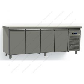 Ψυγείο Πάγκος Συντήρηση 220χ60 εκ με 4 Πόρτες GINOX