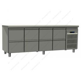 Ψυγείο Πάγκος Συντήρηση 220χ70 εκ με 4 Πόρτες GN 1/1 GINOX