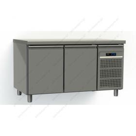 Ψυγείο Πάγκος Συντήρηση 145 εκ. 2 Θυρών Ζαχαροπλαστικής Ταψιά 40x60 εκ. GINOX