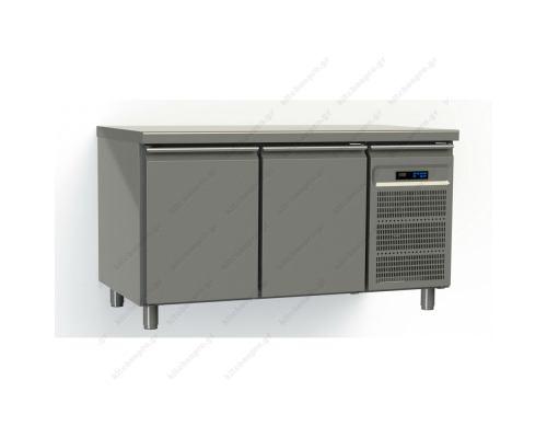 Επαγγελματικό Ψυγείο Πάγκος-Kατάψυξη 145 x 80 εκ. με 2 Πόρτες Ζαχαροπλαστικής GINOX Ελλάδος