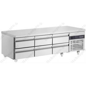 Ψυγείο Πάγκος Χαμηλός (Βάση Μηχανημάτων) 179 χ 70 εκ. με 6 Συρτάρια INOMAK