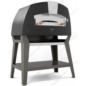 Χειροποίητος Θολωτός Φούρνος Πίτσας Αερίου & Ξύλου 2 Πίτσες 35 εκ ACHILLE, ALFA Ιταλίας