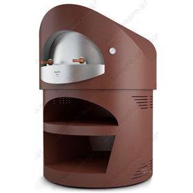 Χειροποίητος Θολωτός Φούρνος Πίτσας Αερίου & Ξύλου 6 Πίτσες 35 εκ GIOTTO, ALFA Ιταλίας