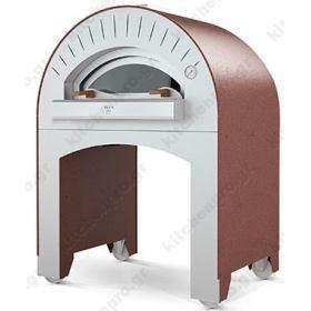 Χειροποίητος Θολωτός Φούρνος Πίτσας Αερίου & Ξύλου 3 Πίτσες 35 εκ QUATRO, ALFA Ιταλίας
