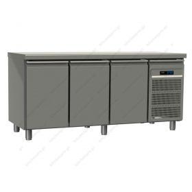 Επαγγελματικό Ψυγείο Πάγκος Συντήρηση 197.5 εκ. 3 Θυρών Ζαχαροπλαστικής 40x60 εκ GINOX