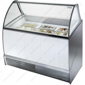 Ψυγείο Βιτρίνα Παγωτού για 10 Λεκανάκια ISA Ιταλίας BERMUDA 10