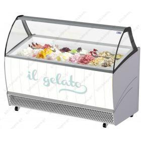 Ψυγείο Βιτρίνα Παγωτού για 13 Λεκανάκια ISA Ιταλίας BERMUDA 13