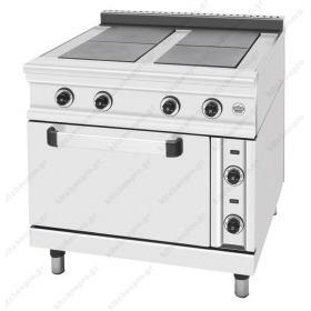 Κουζίνα Ηλεκτρική με 4 Εστίες και Φούρνο FC4FE SERGAS