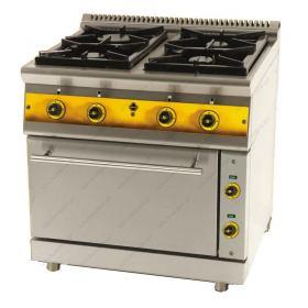 Κουζίνα με 4 Εστίες Αερίου και Ηλεκτρικό Φούρνο FC4GFES7 SERGAS