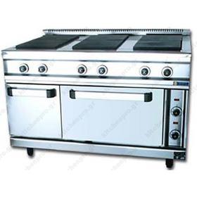 Κουζίνα Ηλεκτρική με 6 Εστίες και Φούρνο FC6FE SERGAS
