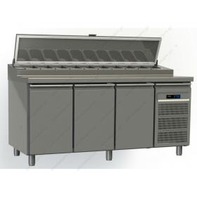 Ψυγείο Πίτσας με 3 Πόρτες 197.5x80 εκ. GINOX