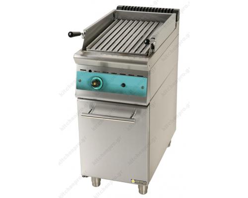 Επαγγελματικό Grill (Γκριλίερα) Αερίου Επιδαπέδιο Μονό 40x90 εκ. GR4S9 SERGAS