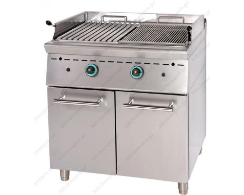 Επαγγελματικό Grill (Γκριλίερα) Αερίου Διπλό 80x90 εκ. GR8S9 SERGAS