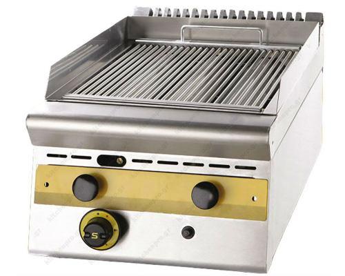 Επαγγελματικό Grill (Γκριλίερα) Επιτραπέζια Αερίου Μονό 40,5 x 75 εκ. WG4S7 SERGAS