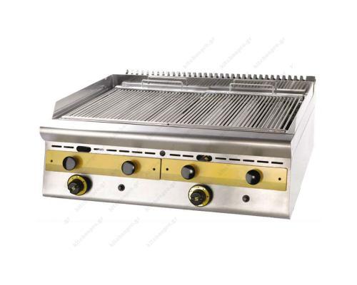Επαγγελματικό Grill (Γκριλίερα) Αερίου Διπλό 80 x 75 εκ. WG8S7 SERGAS