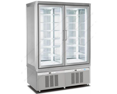 Επαγγελματικό Ψυγείο Βιτρίνα Κατάψυξη Παγωτών - Ζαχαροπλαστικής 132 x 65 x 190 εκ. με 2 Ανεξάρτητους Χώρους 7505 LONGONI Ιταλίας