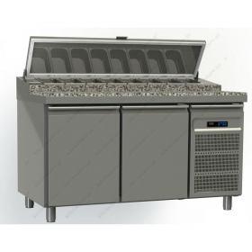 Ψυγείο Πίτσας με Γρανιτένια Επιφάνεια 145x80 εκ. GINOX