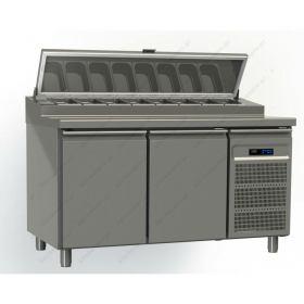 Ψυγείο Πίτσας με 2 Πόρτες 145x80 εκ. GINOX