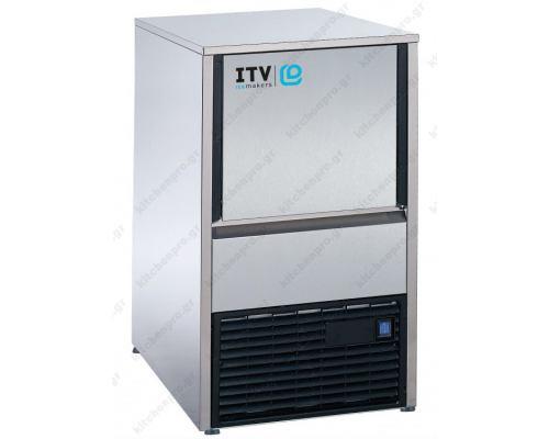 Μηχανή παγοκύβων ανάδευσης 34Kg QUASAR NGQ 30 ITV Ισπανίας