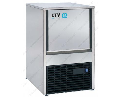 Μηχανή παγοκύβων ανάδευσης 24Kg QUASAR NGQ 20 ITV Ισπανίας
