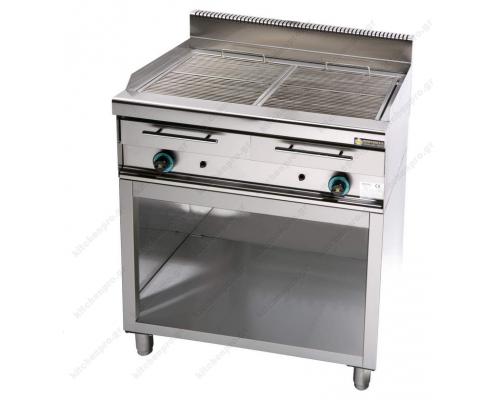 Επαγγελματικό Grill (Γκριλίερα) Αερίου Διπλό 87 x 90 εκ. με Βάση WG2S9 SERGAS