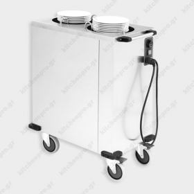 Tροχήλατο Ανοξείδωτο Dispenser Πιάτων με Διάμετρο 18-26 εκ