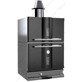 """Φούρνος Ξυλοκάρβουνο με Θερμοθάλαμο για 50-65 Κουβέρ """"BLACK"""" KOPA Τσεχίας"""