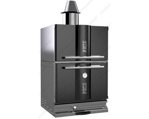 """Φούρνος Ξυλοκάρβουνο με Θερμοθαλαμο για 80-100 Κουβέρ """"BLACK"""" KOPA Σλοβενίας"""