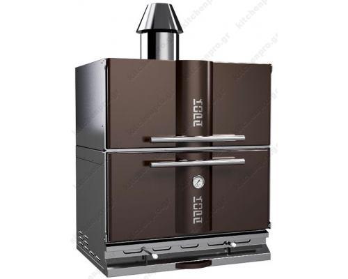 """Φούρνος Ξυλοκάρβουνο με Θερμοθάλαμο για 50-65 Κουβέρ """"BROWN"""" KOPA Σλοβενίας"""