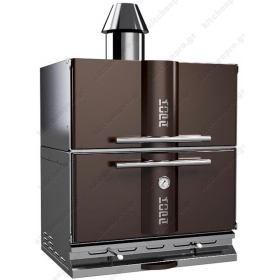 """Φούρνος Ξυλοκάρβουνο με Θερμοθαλαμο για 80-100 Κουβέρ """"BROWN"""" KOPA Τσεχίας"""