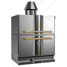 """Φούρνος Ξυλοκάρβουνο με Θερμοθάλαμο για 50-65 Κουβέρ """"INOX-GOLD"""" KOPA Τσεχίας"""