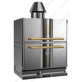 """Φούρνος Ξυλοκάρβουνο με Θερμοθάλαμο για 110-130 Κουβέρ """"INOX-GOLD"""" KOPA Τσεχίας"""