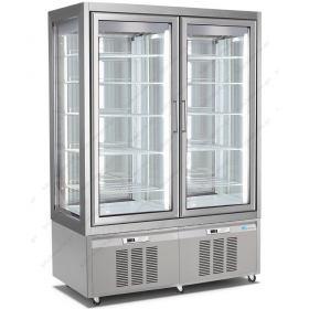 Επαγγελματικό Ψυγείο Βιτρίνα Συντήρηση Γλυκών - Ζαχαροπλαστικής με 2 Ανεξάρτητους Χώρους 132x65x190 εκ. LONGONI 7700 Ιταλίας
