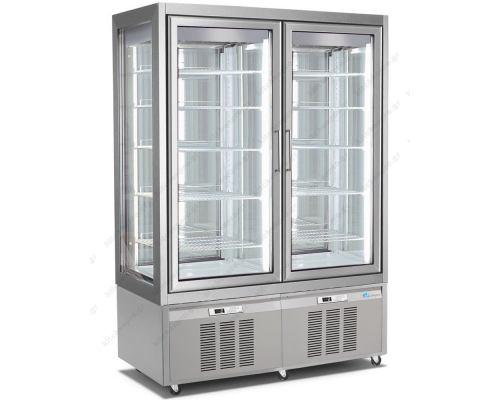 Επαγγελματικό Ψυγείο Βιτρίνα Συντήρηση Γλυκών - Ζαχαροπλαστικής με 2 Ανεξάρτητους Χώρους 132 x 65 x 190 εκ. 7700 LONGONI Ιταλίας