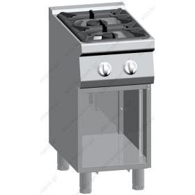 Επαγγελματική Κουζίνα 2 Εστιών Αερίου με Ερμάριο 40x90 εκ ATA srl Ιταλίας