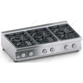 Επιτραπέζια Κουζίνα 6 Εστιών Αερίου 120x70 εκ ATA srl Ιταλίας