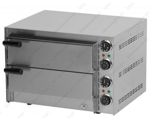Διώροφος Φούρνος Πίτσας Ηλεκτρικός για 2 Πίτσες 35 εκ. FP-66R RM GASTRO ΤΣΕΧΙΑΣ