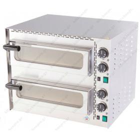 Διώροφος Φούρνος Πίτσας Ηλεκτρικός για 2 Πίτσες 35 εκ FP-68R RM GASTRO ΤΣΕΧΙΑΣ Θερμοκρασία 400º