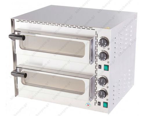 Φούρνος Πίτσας Ηλεκτρικός 2 Πίτσες 35 εκ. FP-68RS RM GASTRO Τσεχίας