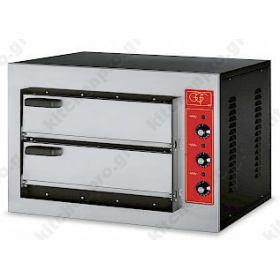 Φούρνος Πίτσας Ηλεκτρικός για 2 Πίτσες 50x50 εκ GGF Ιταλίας