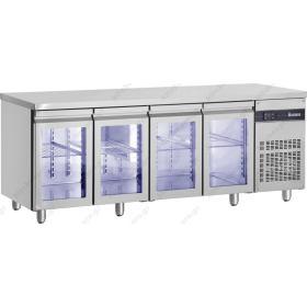 Ψυγείο Πάγκος Συντήρηση 224x70 με 4 Γυάλινες Πόρτες