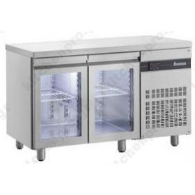 Ψυγείο Πάγκος Συντήρηση 134x70 με 2 Κρυστάλλινες Πόρτες