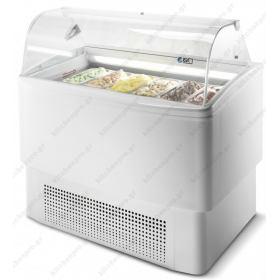 Ψυγείο Βιτρίνα Παγωτού για 6+6 Λεκανάκια ISA Ιταλίας FIJI 6RV