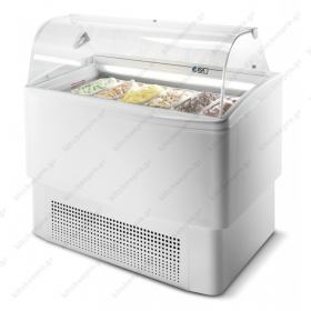 Ψυγείο Βιτρίνα Παγωτού (Compact) για 9+9 Λεκανάκια ISA Ιταλίας FIJI 120 RV