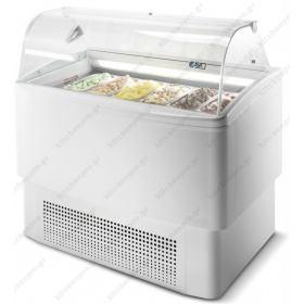 Ψυγείο Βιτρίνα Παγωτού για 9+9 Λεκανάκια ISA Ιταλίας FIJI 9 RV