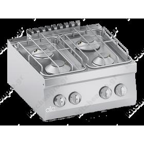 Επιτραπέζια Κουζίνα 4 Εστιών Αερίου 60x60 εκ ATA srl Ιταλίας