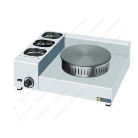 Ηλεκτρική Κρεπιέρα με 1 Πλάκα 35εκ και Λεκανάκια KEL1X35 SERGAS