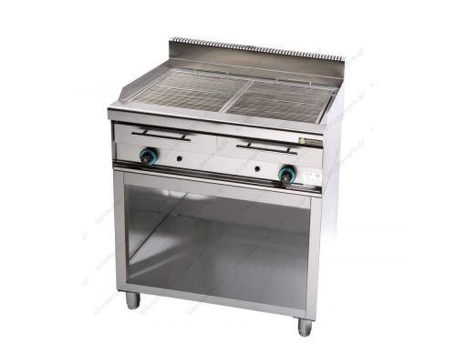 Επαγγελματικό Grill (Γκριλίερα) Αερίου Διπλό 87 x 65 εκ. με βάση WG2 SERGAS